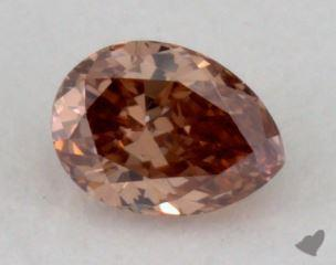 pear0.22 Carat fancy dark pinkish brownSI1
