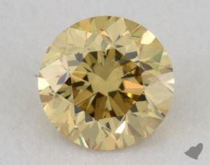 round0.28 Carat fancy deep yellowVS2