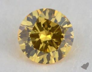 round0.14 Carat fancy vivid yellow