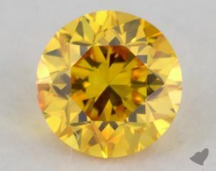 round0.21 Carat fancy vivid orange yellow