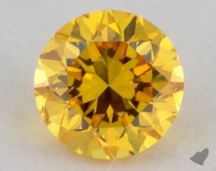 round0.23 Carat fancy vivid orange yellow