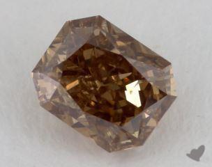 radiant1.21 Carat fancy dark yellow brownI1