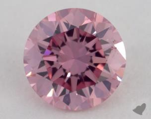 round0.26 Carat fancy intense purplish pinkSI1