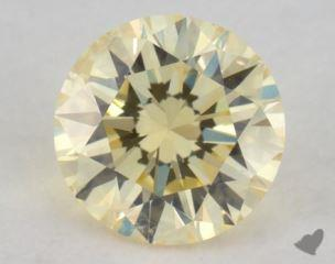 round0.58 Carat fancy light yellowI1