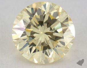 round0.53 Carat fancy light yellowVS2