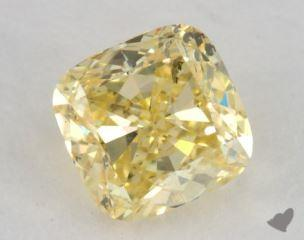 cushion0.73 Carat  yellowI1