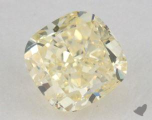 cushion0.91 Carat fancy light yellow