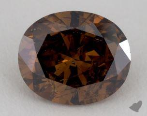 oval2.68 Carat fancy dark orangy brownI1