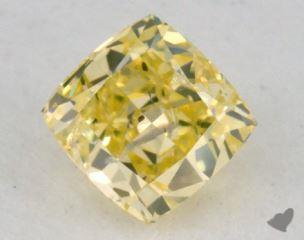 princess0.41 Carat fancy intense greenish yellow