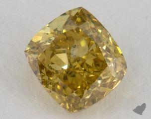 cushion0.91 Carat fancy yellow