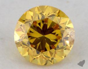 round0.41 Carat fancy vivid orangy yellowI1