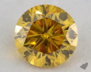 round0.28 Carat fancy vivid orangy yellowI1