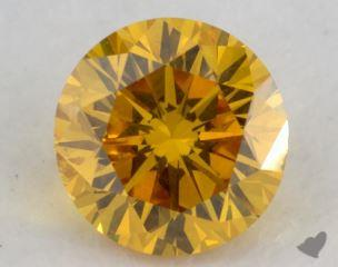 round0.44 Carat fancy vivid orangy yellowI1