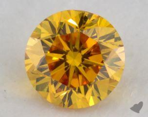 round0.31 Carat fancy vivid orangy yellowSI2