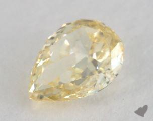 pear0.61 Carat fancy yellowVS1