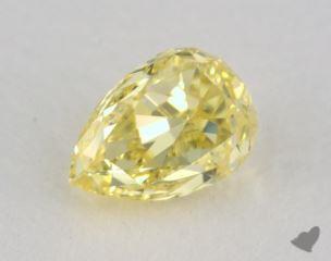 pear0.50 Carat fancy intense yellowSI1