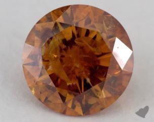round1.23 Carat fancy deep yellowish orangeI3