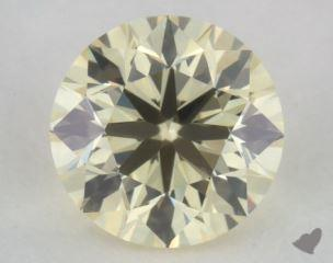 round0.51 Carat light yellowVS2