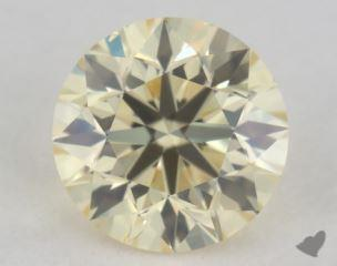 round0.40 Carat light yellowVS2