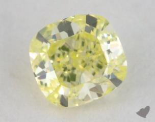 cushion0.24 Carat fancy intense yellowish greenVS2