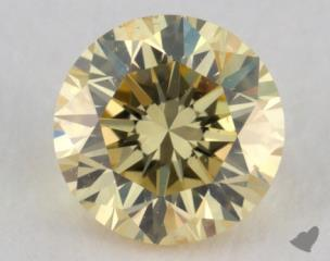 round0.45 Carat fancy yellowSI1