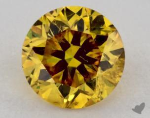 round0.54 Carat fancy vivid orange yellowI1