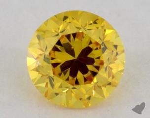 round0.22 Carat fancy vivid orange yellow