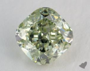 cushion0.51 Carat fancy intense yellowish greenVS1