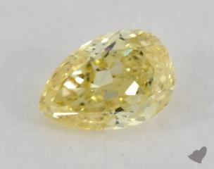 pear0.44 Carat fancy intense yellowSI2