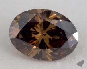 oval1.07 Carat fancy dark orangy brownVS2