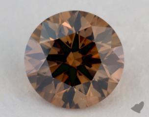 round0.73 Carat fancy dark yellow brownVS2