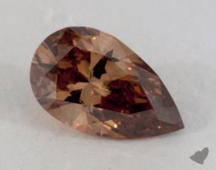 pear1.07 Carat fancy dark orangy brownSI2
