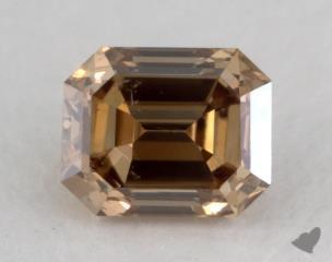 emerald0.57 Carat fancy dark yellow brownSI1