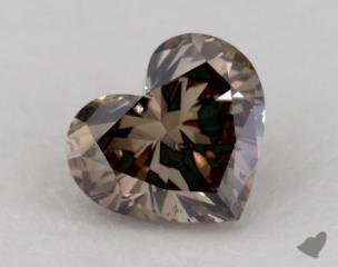 heart1.58 Carat fancy dark brownSI2