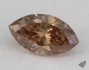 marquise0.62 Carat fancy orange brownI1