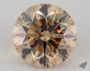 round1.12 Carat fancy brownish yellowSI1