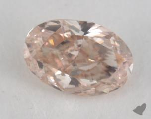 oval0.28 Carat fancy pinkSI1