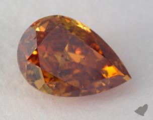 pear1.03 Carat fancy deep orangeSI2