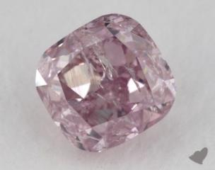cushion0.37 Carat fancy pinkish purpleI1