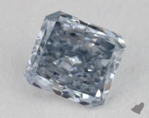radiant0.23 Carat fancy blueSI1