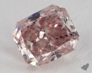 radiant0.76 Carat fancy pink