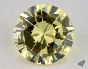 round0.35 Carat fancy light yellow