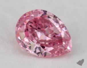 pear0.27 Carat fancy vivid purple pinkSI1