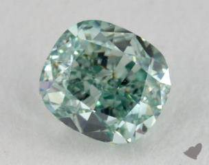 radiant0.34 Carat fancy intense blue greenVS1