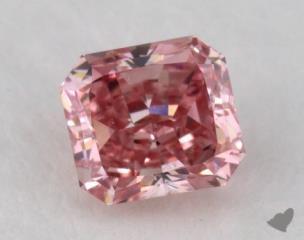 radiant0.31 Carat fancy intense purplish pinkVS2