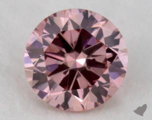 round0.34 Carat fancy intense purplish pinkVS1