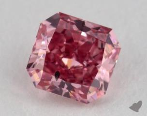 radiant0.28 Carat fancy vivid purplish pinkSI2