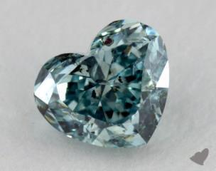 heart0.29 Carat fancy deep blue greenI1