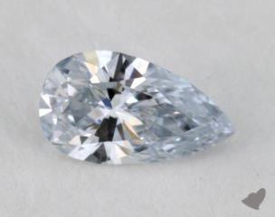 pear0.19 Carat fancy light blueVS1