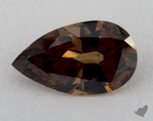 pear4.01 Carat  brownSI1